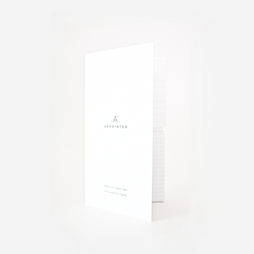 Appointed, Adhesive Notes Set with Cover, Grid + Lined