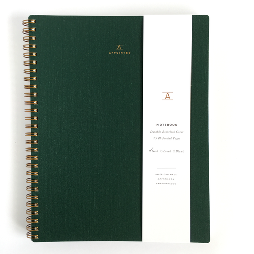 Appointed, Spiral Notebook, Blank, B5, Hunter Green