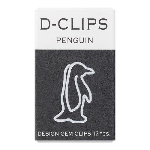 Midori D-Clip Paper Clips, Mini Penguin