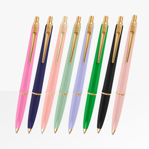 Ballograf Luxe Range of Ballpoint pens with gold finishing
