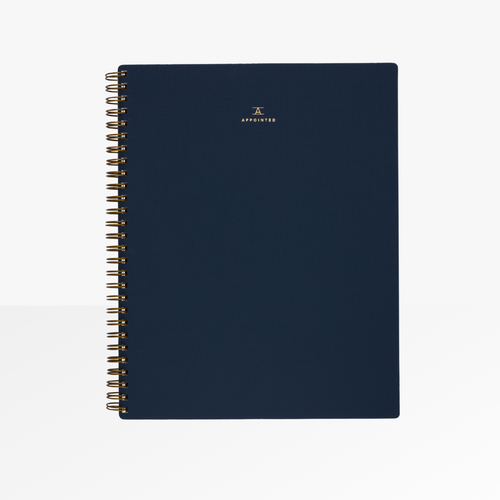 Appointed B5 Spiral Notebook in Oxford Blue.