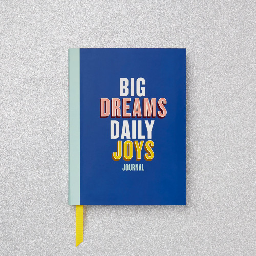 The Big Dreams, Daily Joys Journal contains simple-to-follow prompts for reflecting on weekly progress and setting attainable goals for the days ahead,