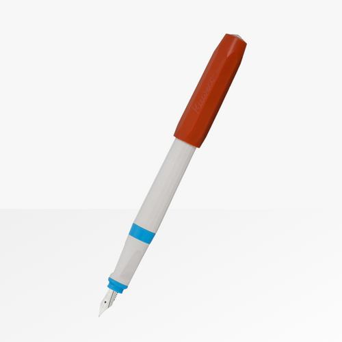 The Kaweco Perkeo Fountain Pen in Retro Block with the cap posted