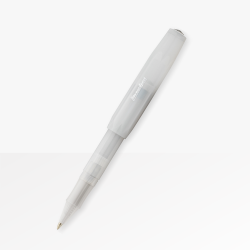 Kaweco Frosted Sport Rollerball pen in Natural Coconut, closed