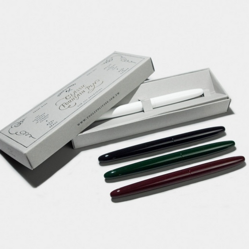 Tools to Liveby Fountain Pens - available in four colours and packaged in a gift box.
