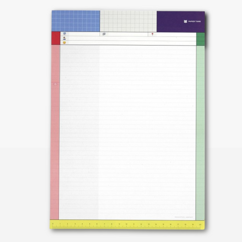 The perfect everyday notepad has arrived. The Papier Tigre A4 notepad this little guy is bringing you retro organisation vibes with its jazzy colours.
