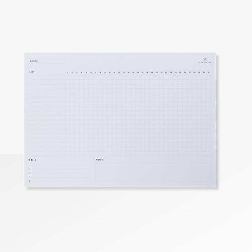 The 31 Day Habit Tracking Pad  from Appointed's Productivity Collection
