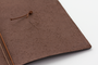 The beautiful texture of the lovely cow leather in all Travelers Notebooks.