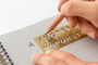 How to use the Traveler's Notebook, Brass Template Bookmark, Alphabet
