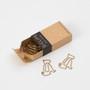 Each box contains 12 Midori D-Clip Paper Clips in Shiba