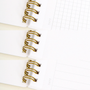 Appointed, Spiral Notebook, B5, Chambray - Available in Grid, Bank & Lined