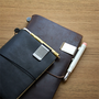 Look how beautiful they look with the Traveler's Notebook. But they can be used with any notebook that you want to add some class to.