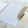 Appointed Adhesive Note Book with Weekly Planner Sticky Notes