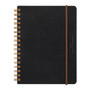 Midori B6 Grain Leather Spiral Notebook in Black  is stylish and unique