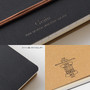Design features of the Black Midori B6 Grain Leather Spiral Notebook