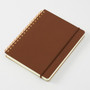 Midori Grain Brown Leather B6 Notebook is perfect for journalling and writing