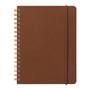 Midori Grain Brown Leather B6 Notebook also comes in black