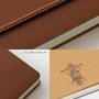 The design features of the Midori Grain Brown Leather B6 Notebook