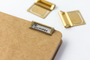 Label your folders or notebooks with Traveler's Company Brass Index Clip