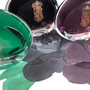 The colours of the Morningside Collection - April Showers, Madam Mulberry and Morningside Mint
