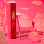 Ferris Wheel Press Brush Fountain Pen Piccadilly Pink standing with its display case
