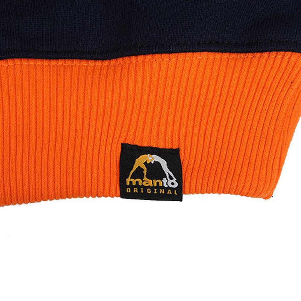 "Hoodie ""ATHLETICS""  Blue/Orange"