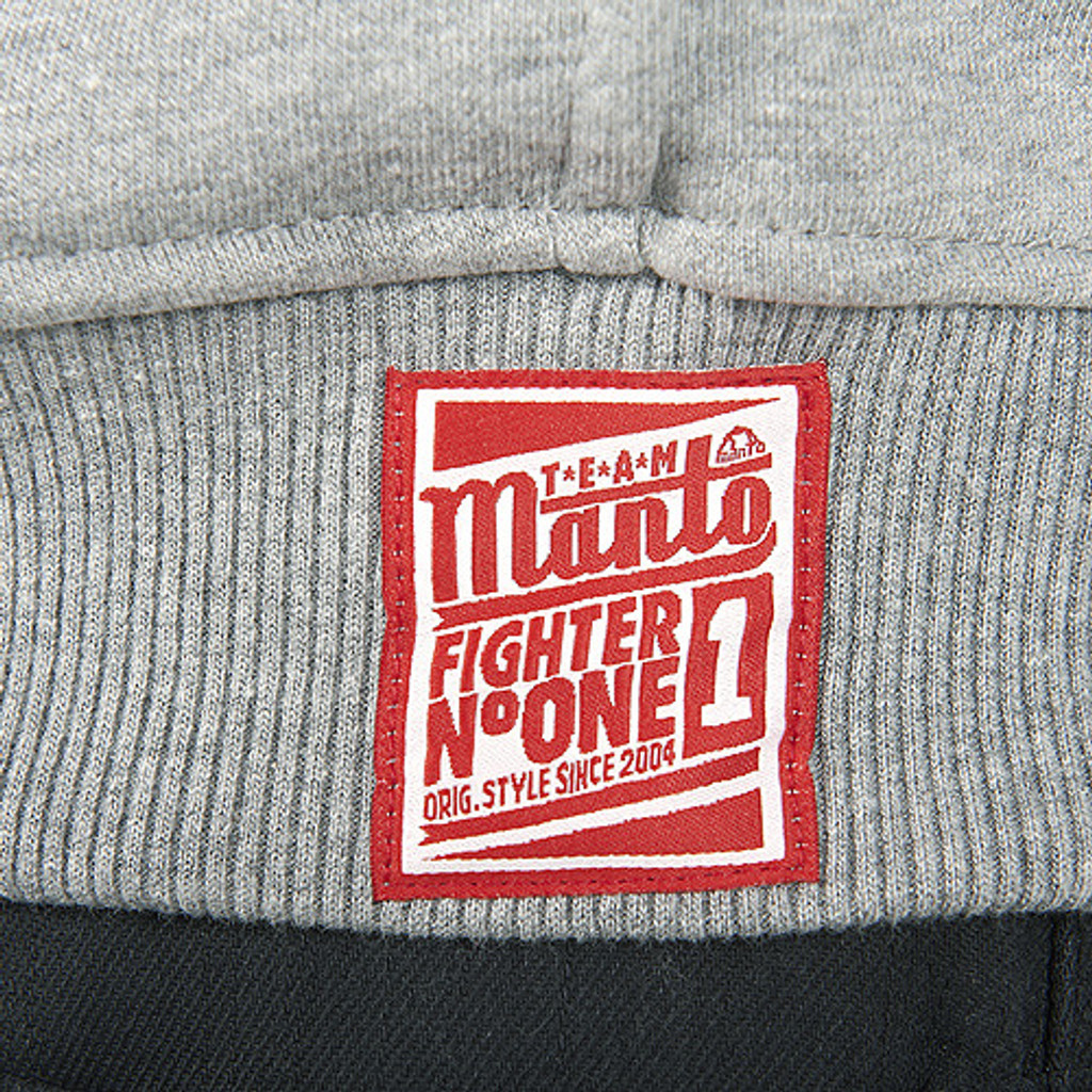 "Hoodie ""FIGHTER"" Gray"