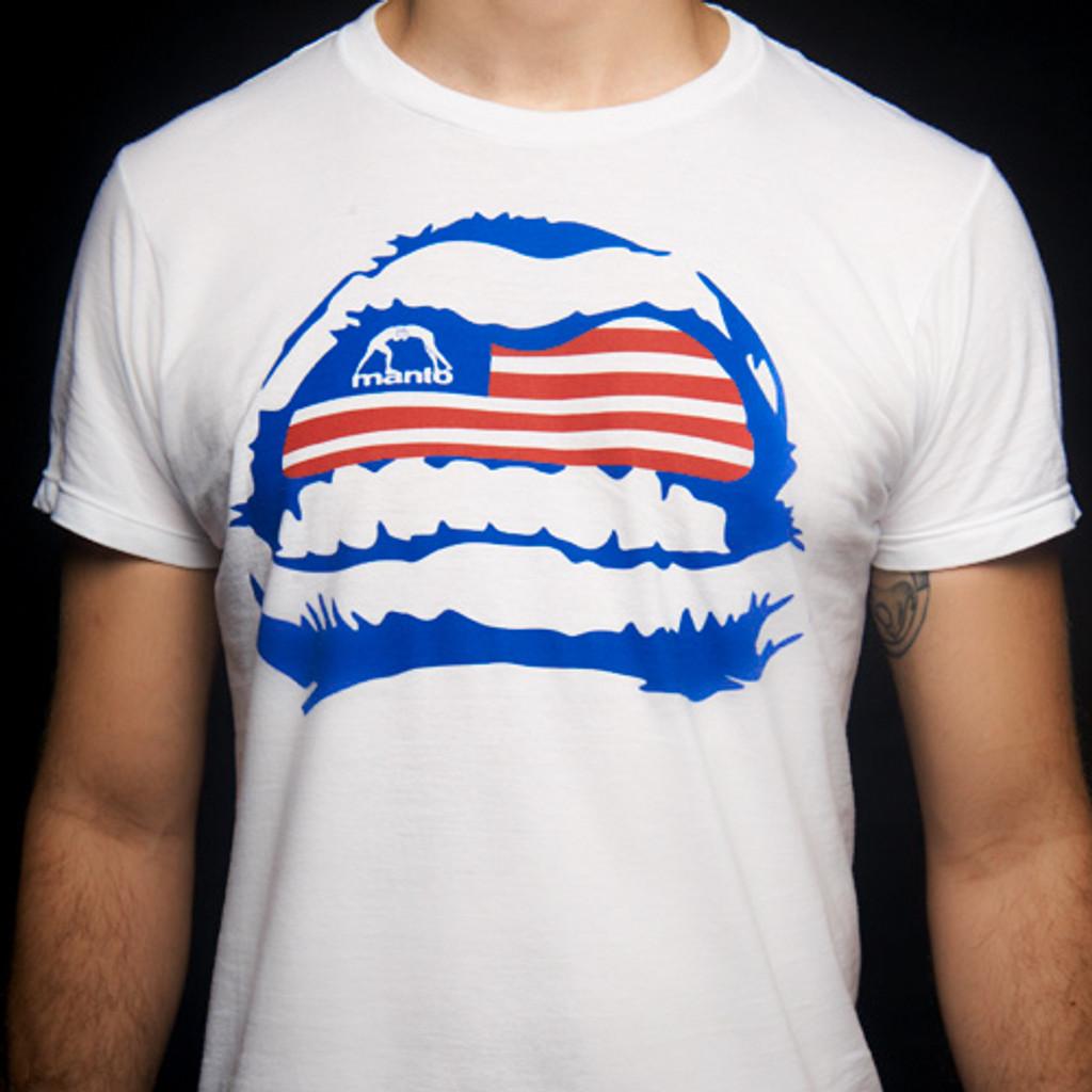 """Tshirt """"GRILLZ USA"""" White"""