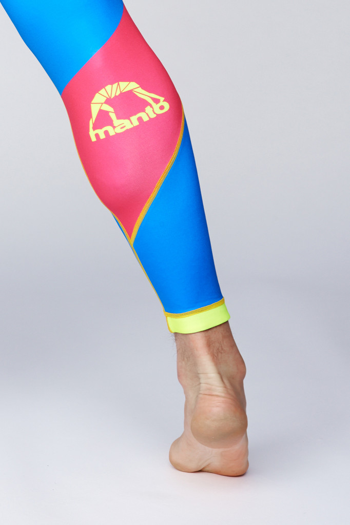 "MANTO ""TOBIKAN"" SPATS Yellow/Blue"
