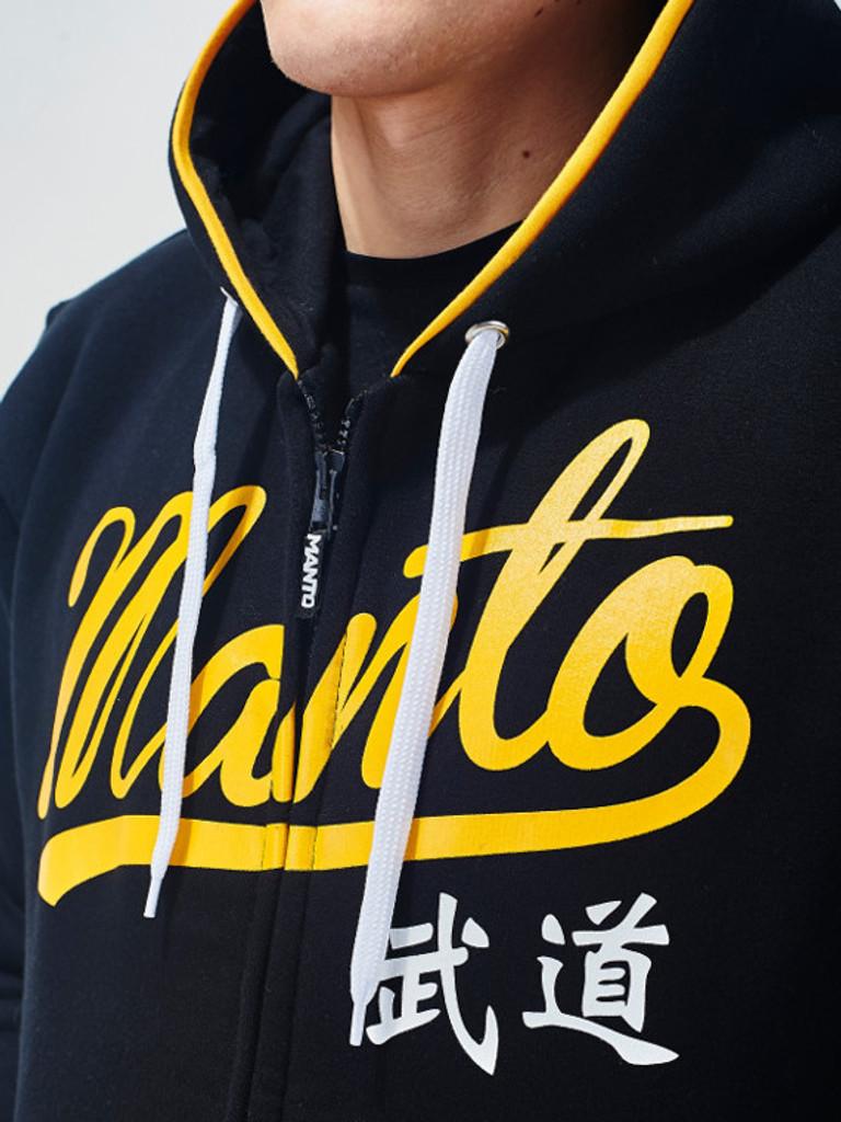 """MANTO """"TOKYO"""" HOODIE ZIP Black"""