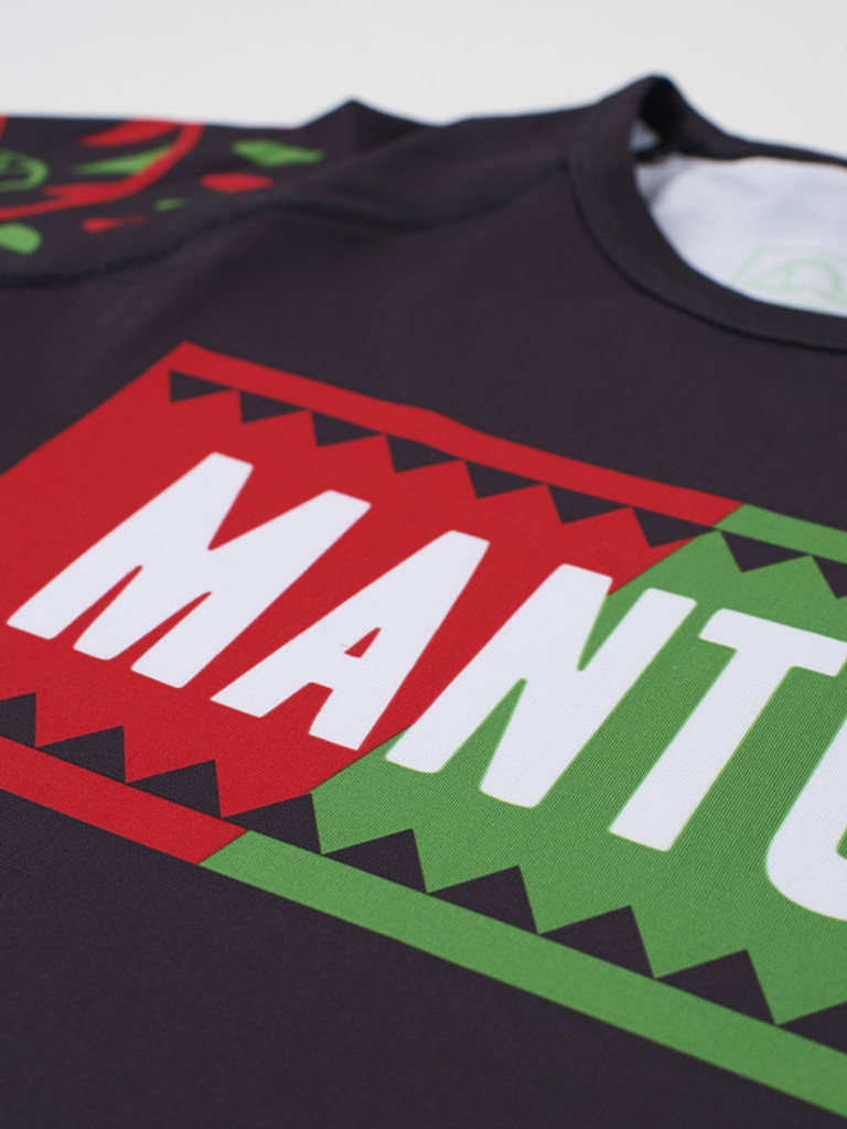 "MANTO ""LUCHA"" RASH GUARD Red/Green"