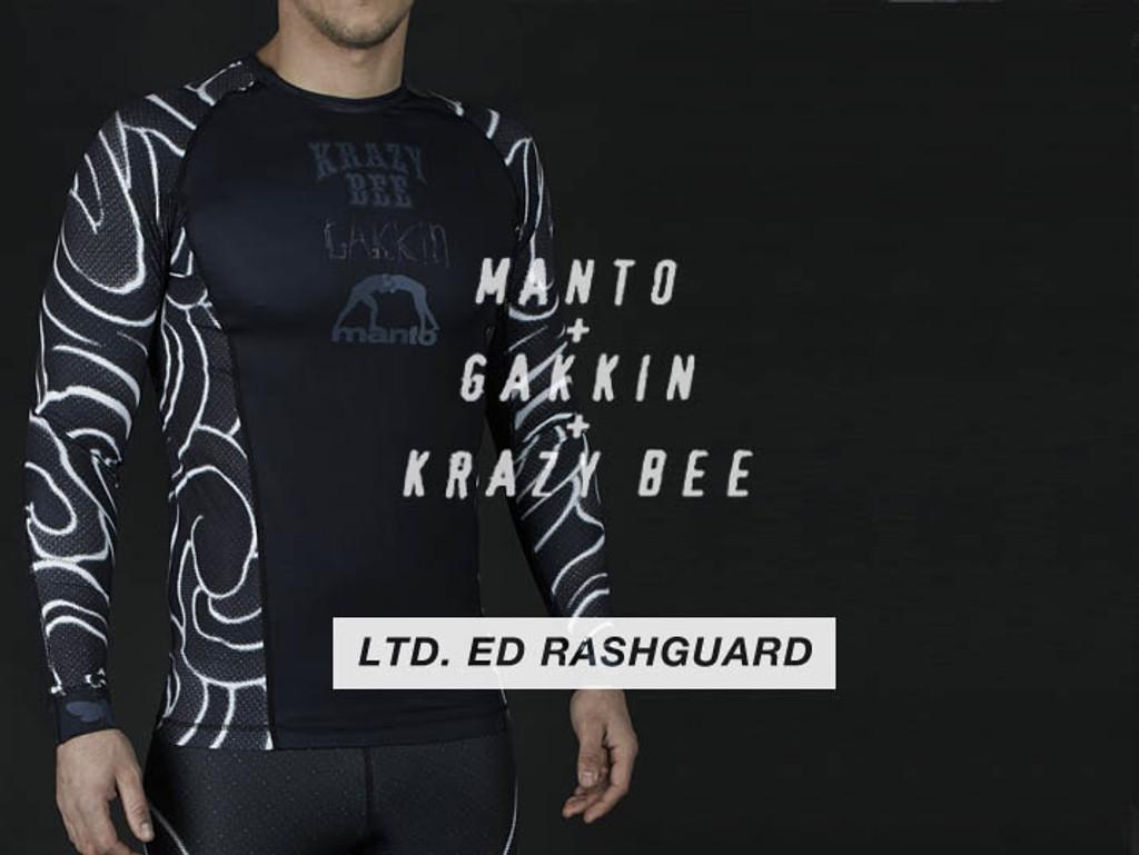 """MANTO """"GAKKIN"""" RASHGUARD Black"""