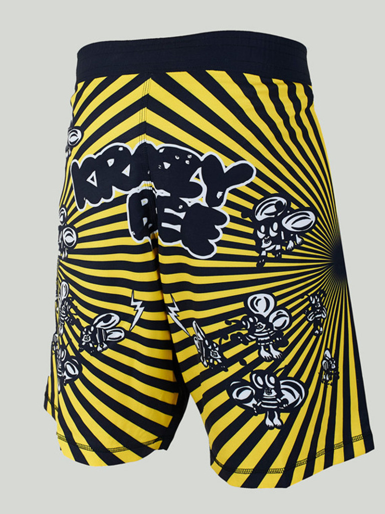"MANTO ""SKOLOCT"" SHORTS Black/Yellow"
