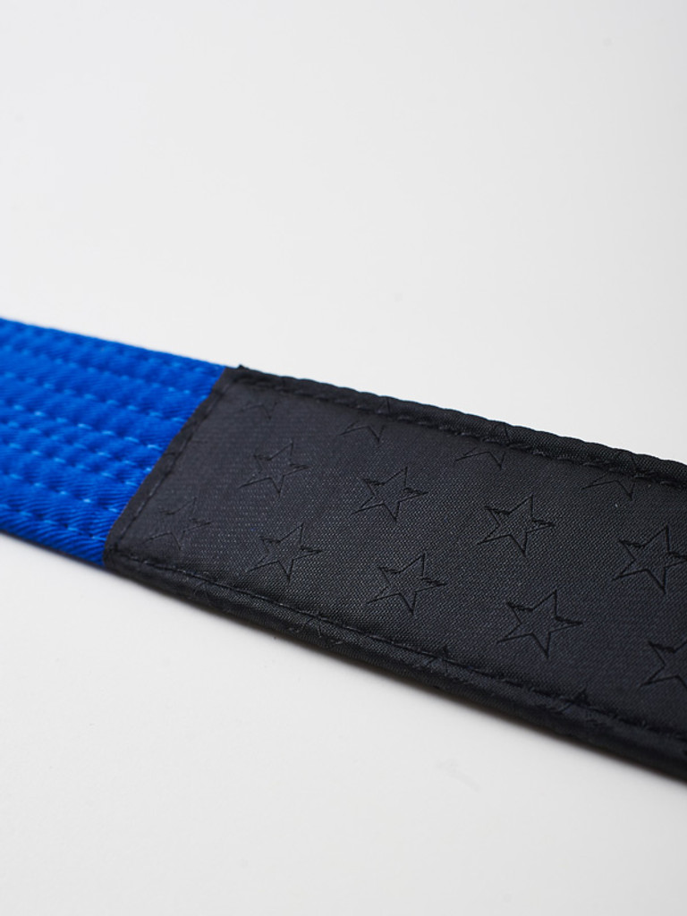"MANTO ""ARTE SUAVE"" PREMIUM BELT Blue for Jiu-Jitsu"