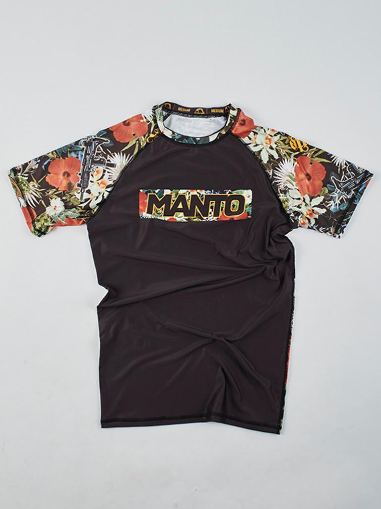 "MANTO ""FLORAL"" RASHGUARD Black"
