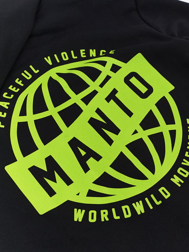 "MANTO ""MOVEMENT"" HOODIE ZIP Black"