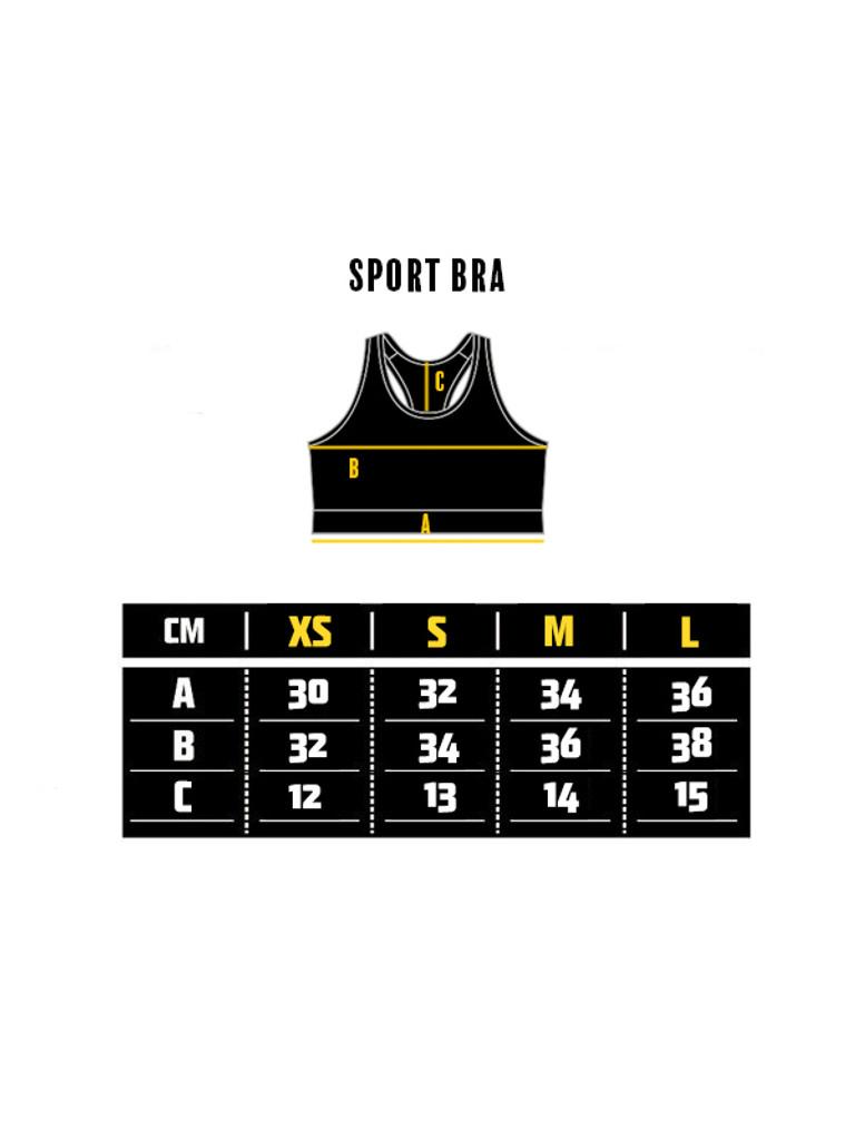 "MANTO ""MARBLE"" Sports Bra Black"