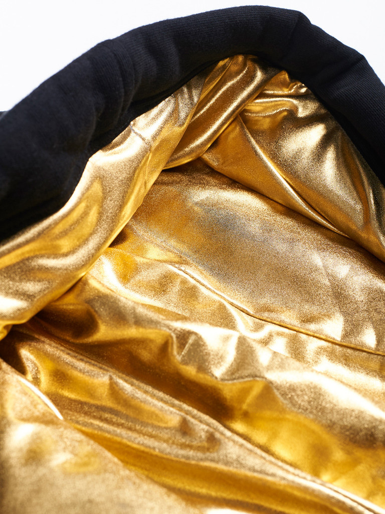 "MANTO ""GOLD"" Crop Top Oversized Hoodie for Women"