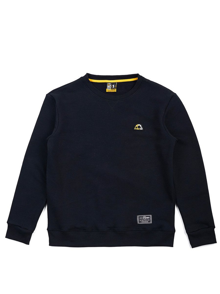 "MANTO ""EMBLEM"" CREW NECK Black"