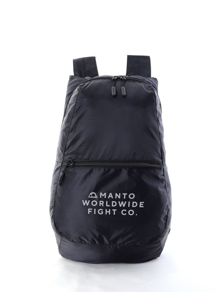 """MANTO """"CITY"""" Packable Backpack Black"""