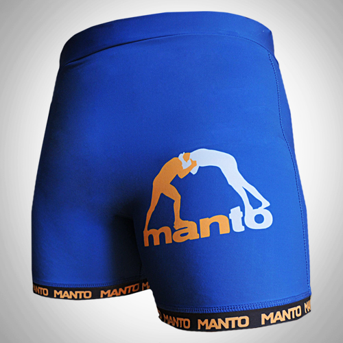 "MANTO ""VALETUDO"" Compression Shorts Blue"