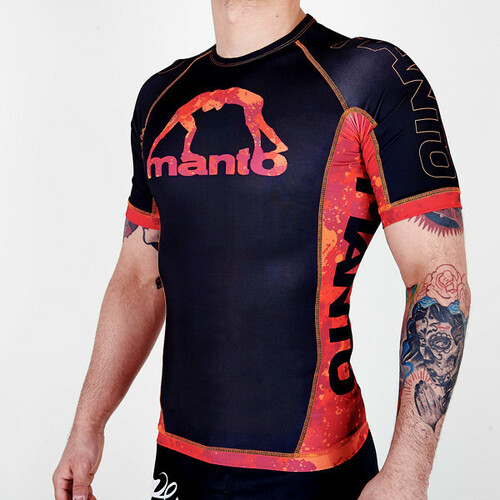 "MANTO ""LAVA"" RASH GUARD Red"