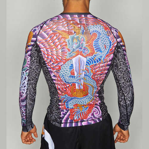 "MANTO ""KRAZY BEE"" RASH GUARD Long Sleeve Black"