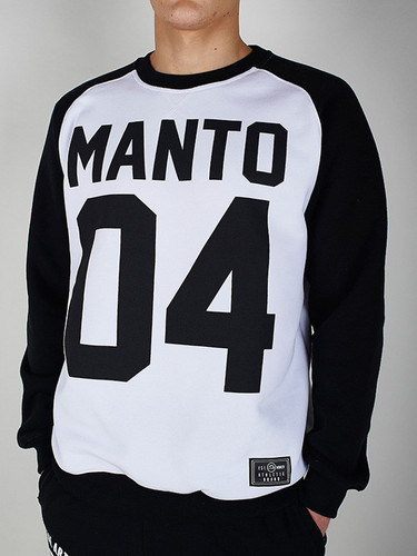 "MANTO ""ZEROFOUR"" SWEATER White/Black"