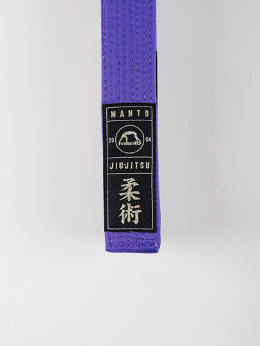 "MANTO ""ARTE SUAVE"" PREMIUM BELT Purple for Jiu-Jitsu"