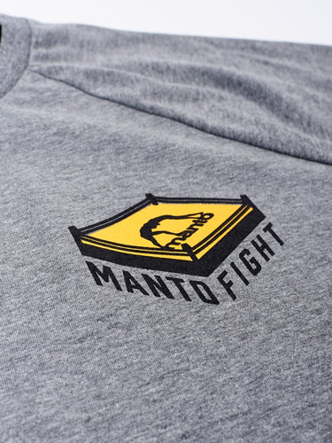 "MANTO ""RING"" T-SHIRT Grey & Yellow"