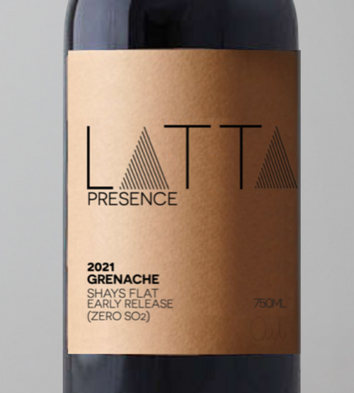 2021 Latta Vino 'Presence' Grenache