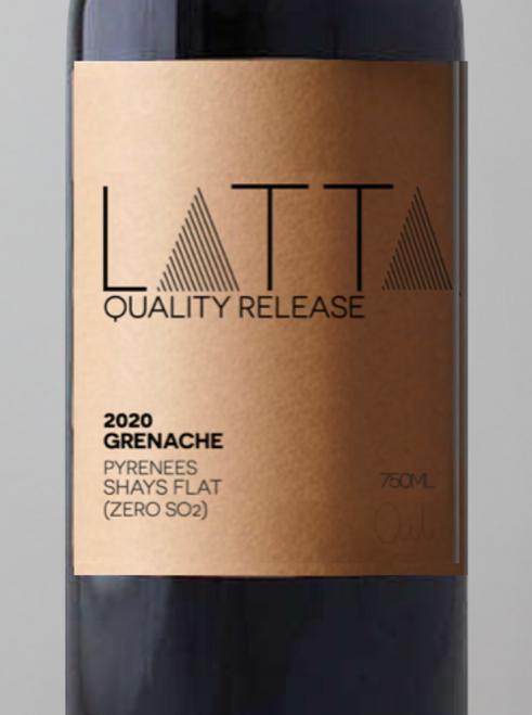 2020 Latta Vino 'Quality Release' Grenache