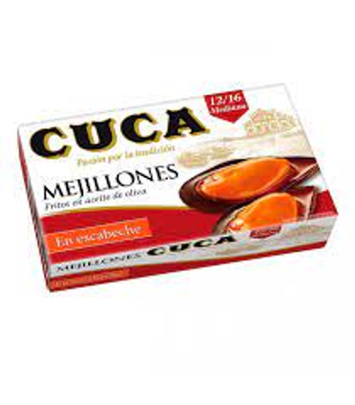 Cuca Mejillones en Escabeche