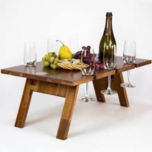 Indi Tribe Folding Table - 6 Glass Holder